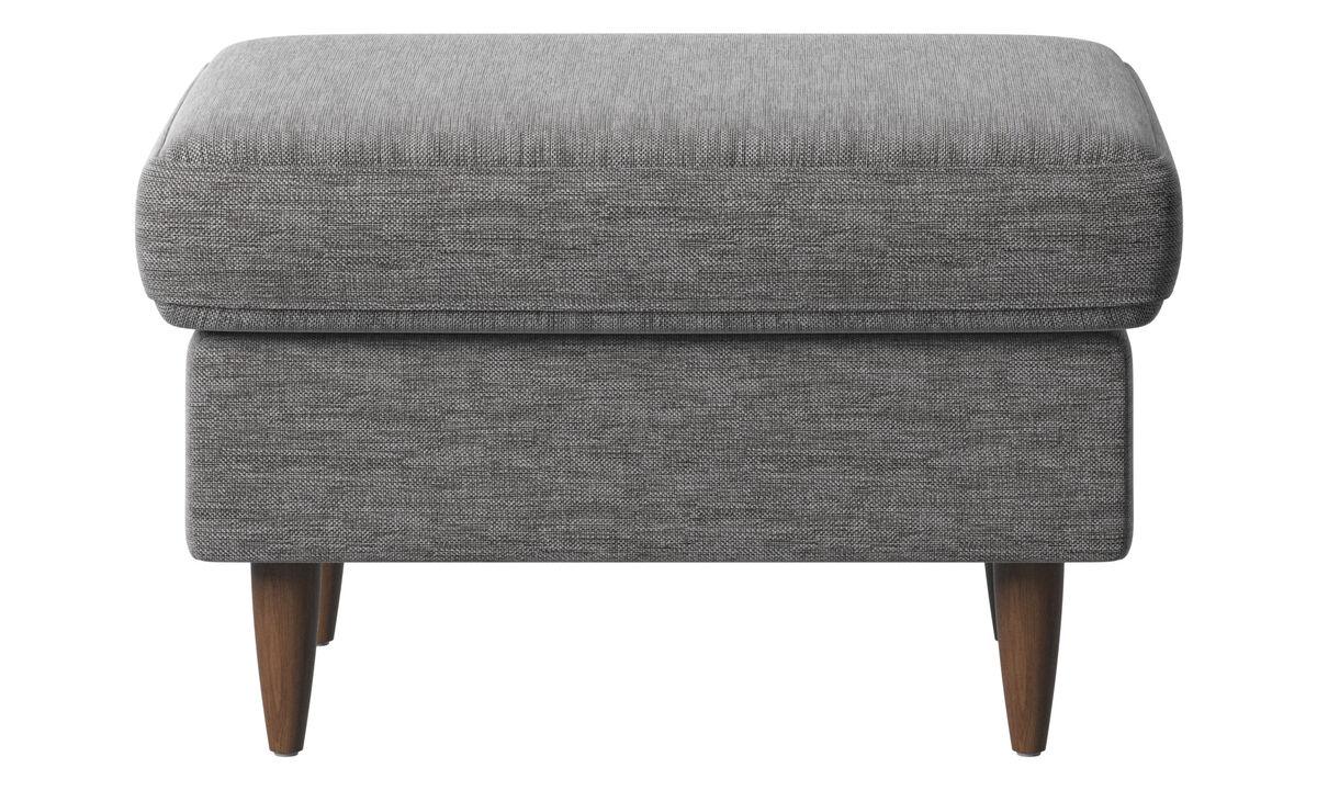 Footstools - Indivi footstool - Grey - Fabric