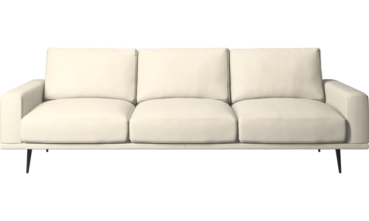 3-sitzer Sofas - Carlton Sofa - Weiß - Leder