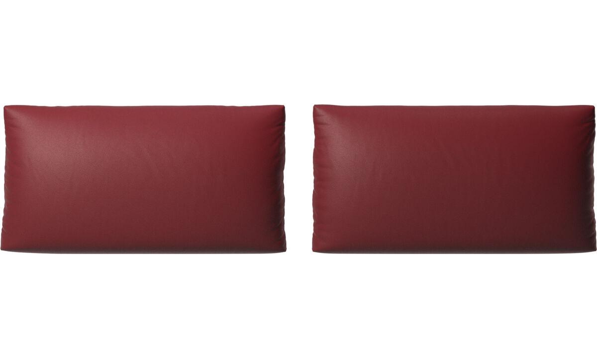 Acessórios para móveis - almofadas para Sofa Nantes - Vermelho - Couro