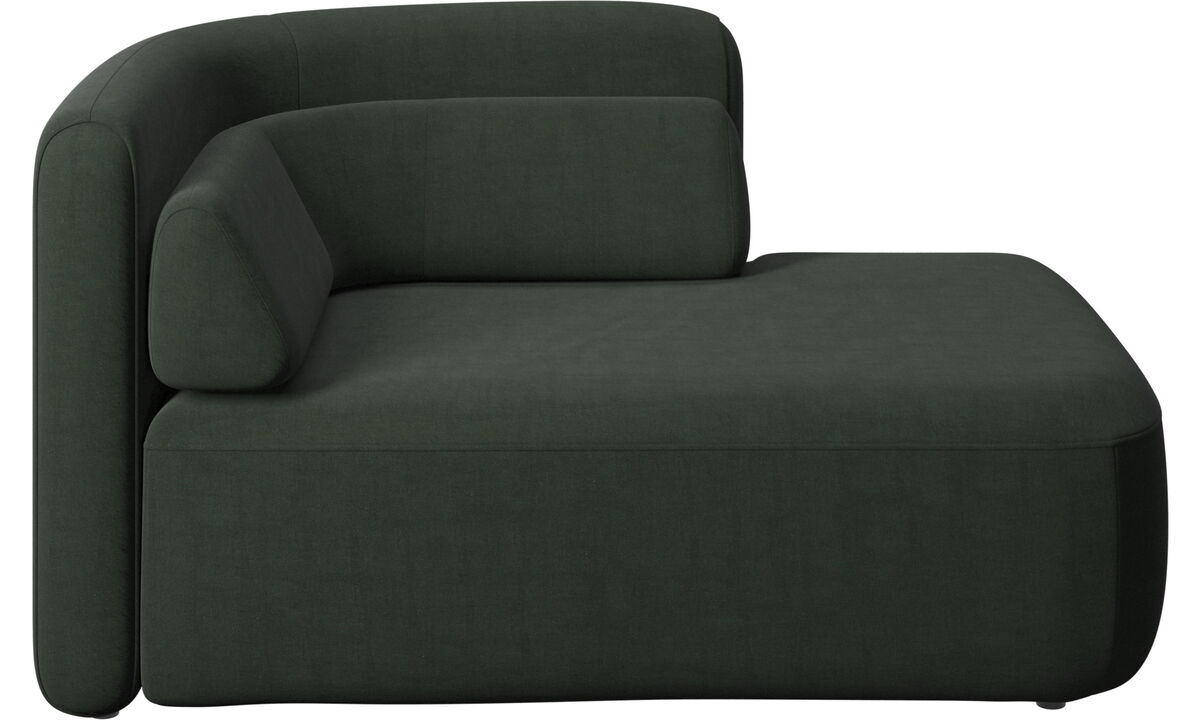 Modular sofas - Ottawa 1,5 seater open end right side - Green - Fabric