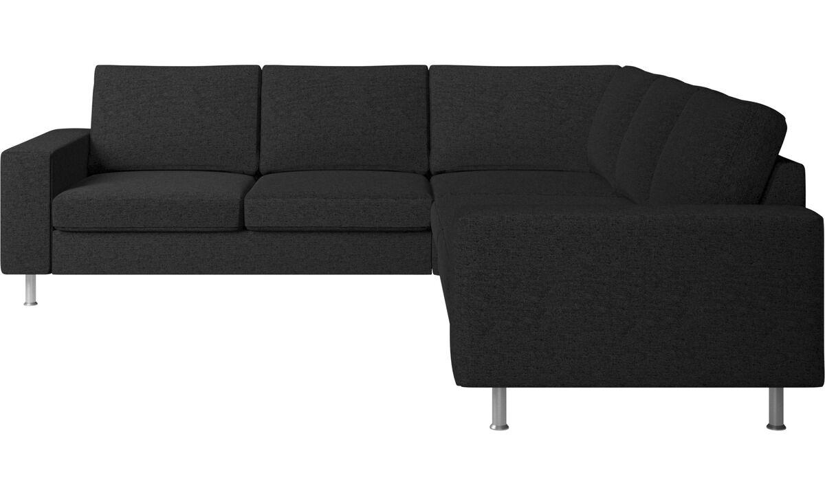 Sofás esquineros - sofá esquinero Indivi 2 - En gris - Tela
