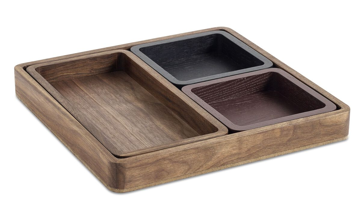 Small storage - Oki tray - Brown - Wood