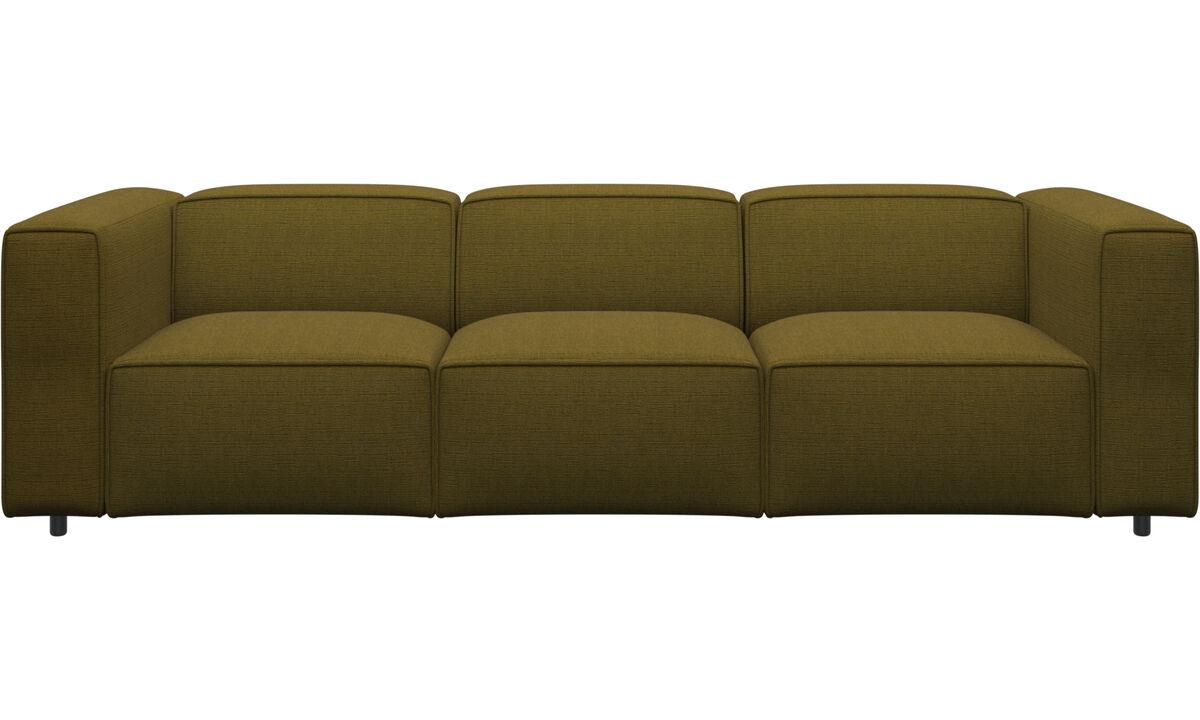 3 personers sofaer - Carmo sofa - Gul - Stof