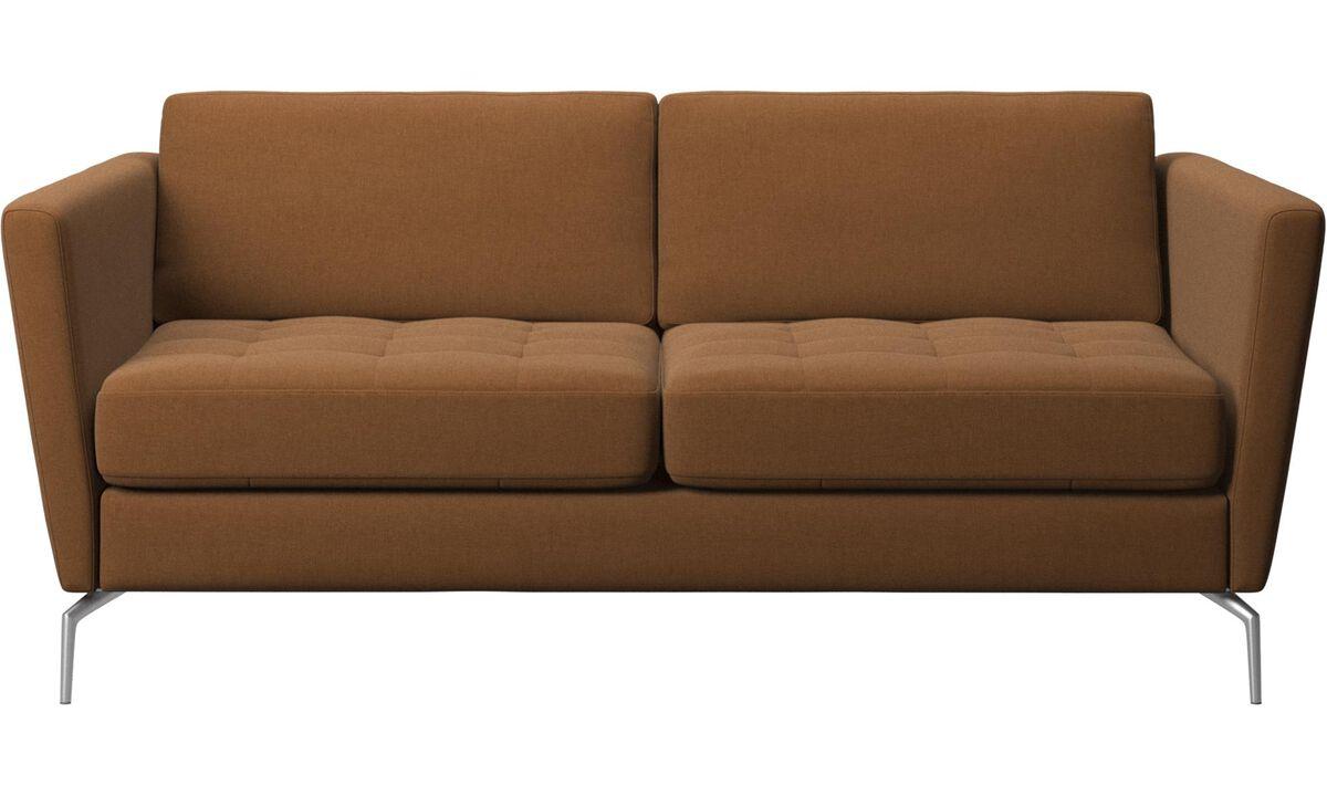 New designs - Osaka sofa, tufted seat - Brown - Fabric
