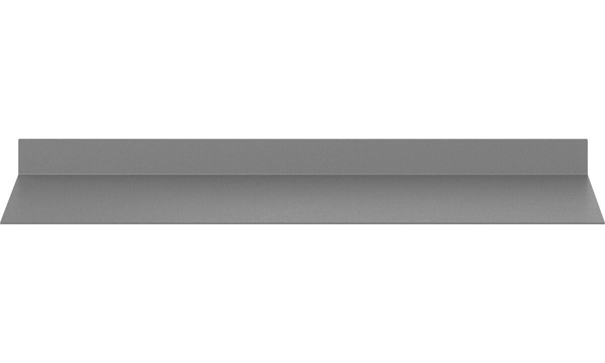 Regale und Bücherschränke - Como Wandboard - Grau - Metall