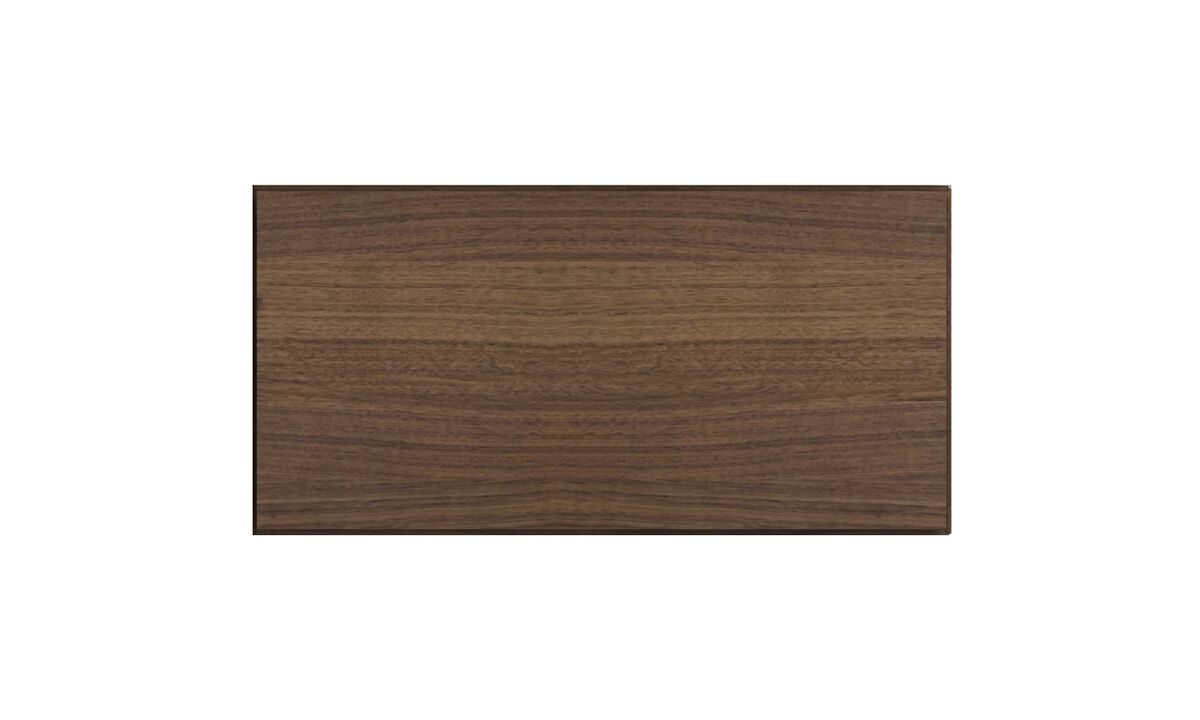 Wall systems - Lugano wall mounted cabinet with drop down door - Brown - Walnut