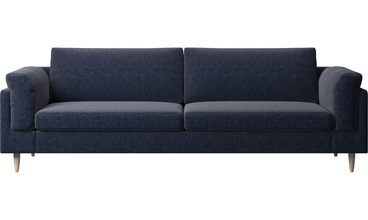 Navy Blue Napoli - Indivi 2 sofa - Blue - Fabric