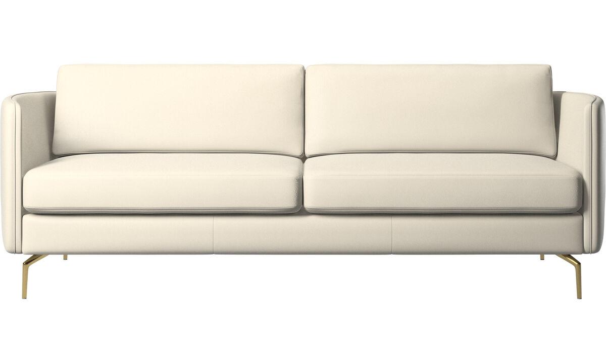 Canapés 2 places et demi - canapé Osaka, assise classique - Blanc - Cuir