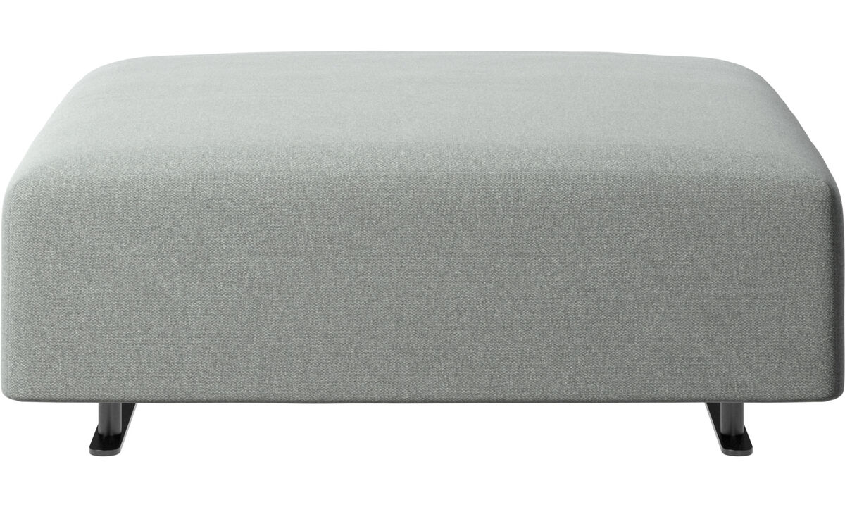Ottomans - Hampton pouf - Gray - Fabric