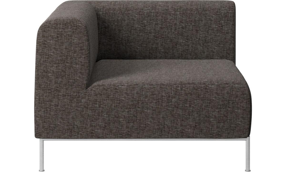 Modulære sofaer - Miami hjørnemodul venstre side - Brun - Stof