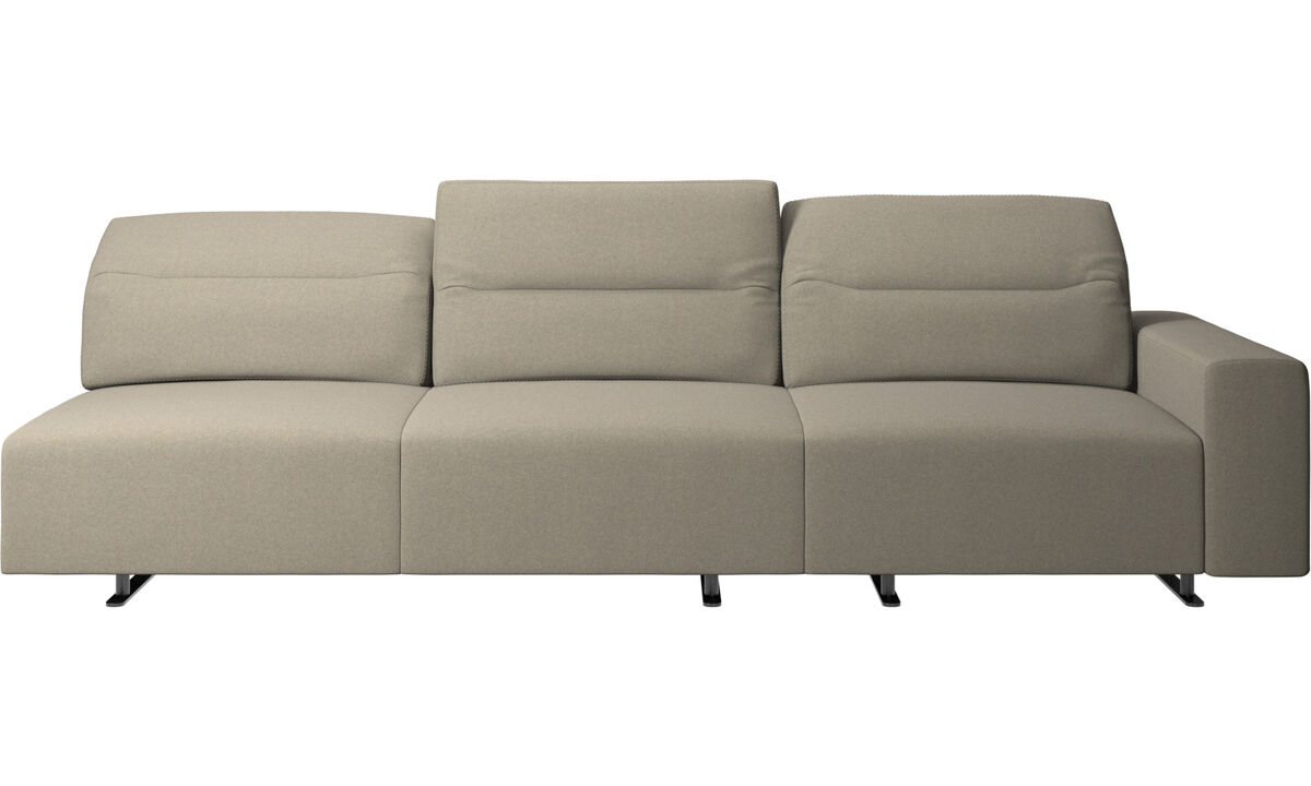 New designs - Hampton sofa with adjustable back - Beige - Fabric