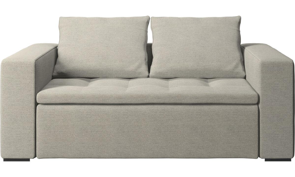 Sofás de 2 plazas - sofá Mezzo - En beige - Tela