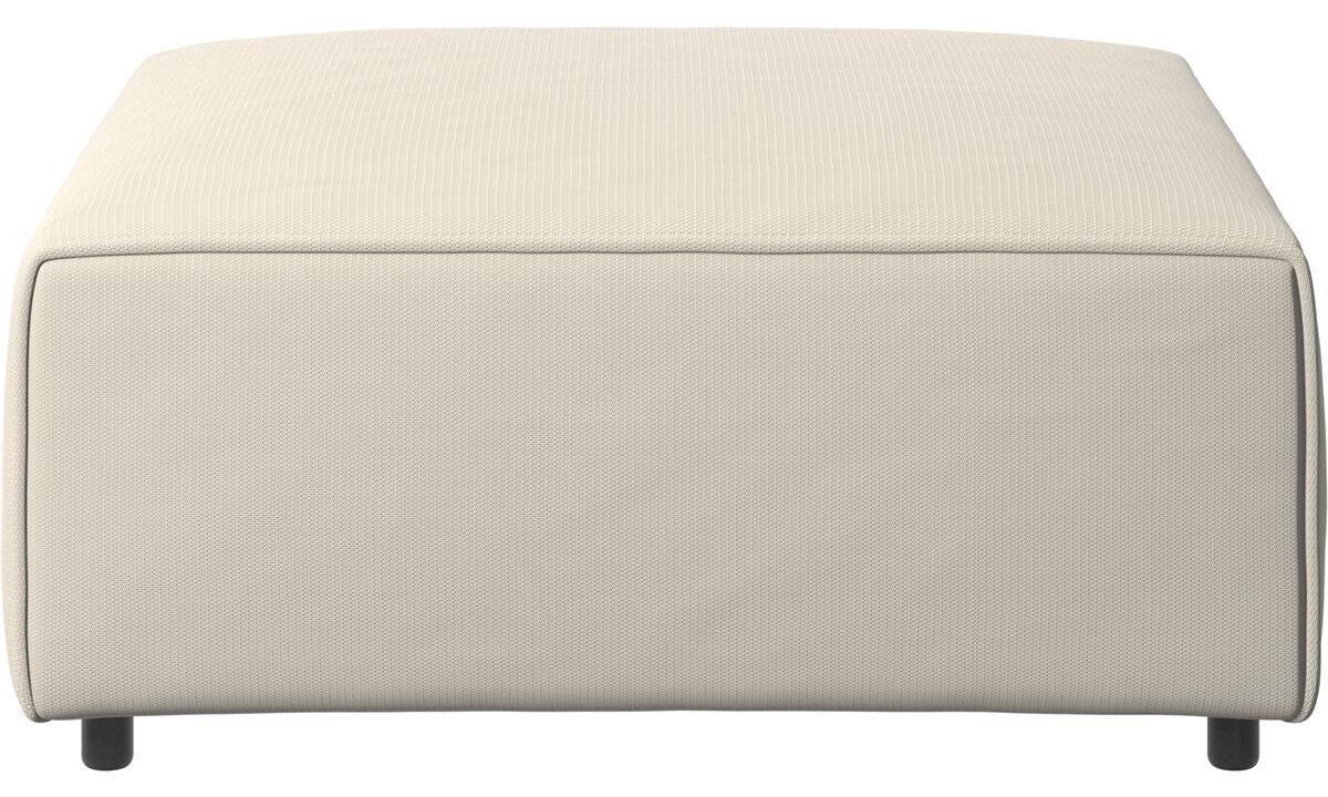 Footstools - Carmo ottoman - White - Fabric