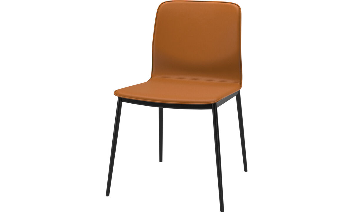 Dining chairs - Newport dining chair - Brown - Leather