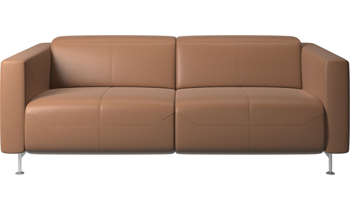 2 seater sofas - Parma reclining sofa - Brown - Leather
