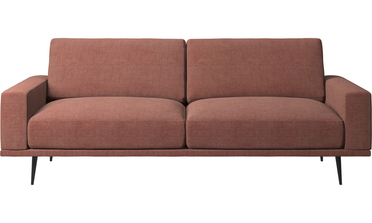Sofás de 2 lugares e meio - Sofá Carlton - Vermelho - Tecido