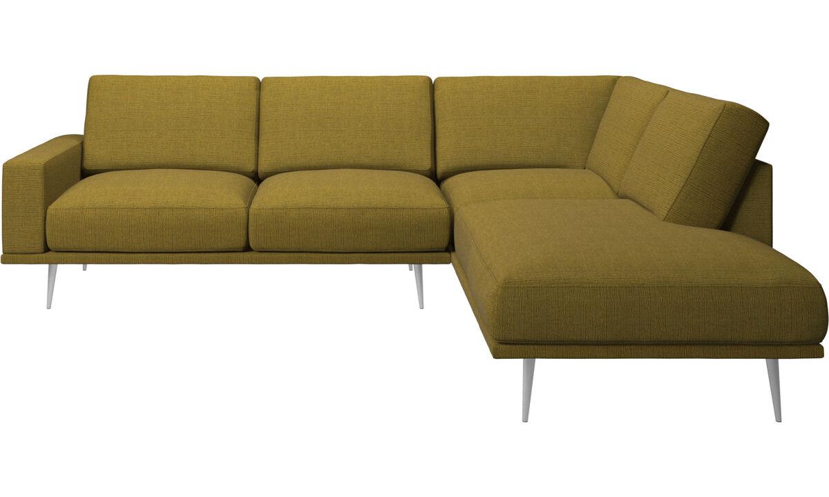Sofas with open end - Carlton divano con modulo lounge - Giallo - Tessuto