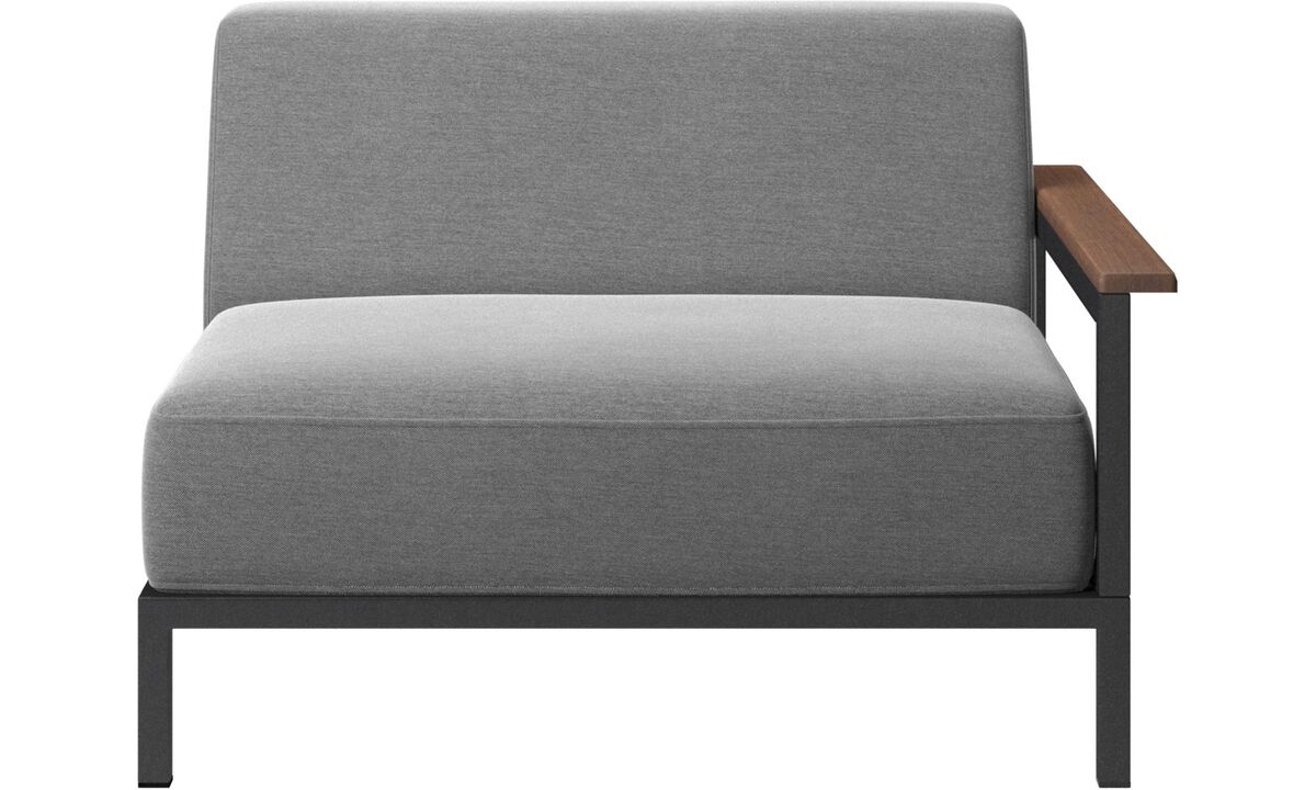 Outdoor lounge furniture - Rome outdoor sofa - Gray - Fabric