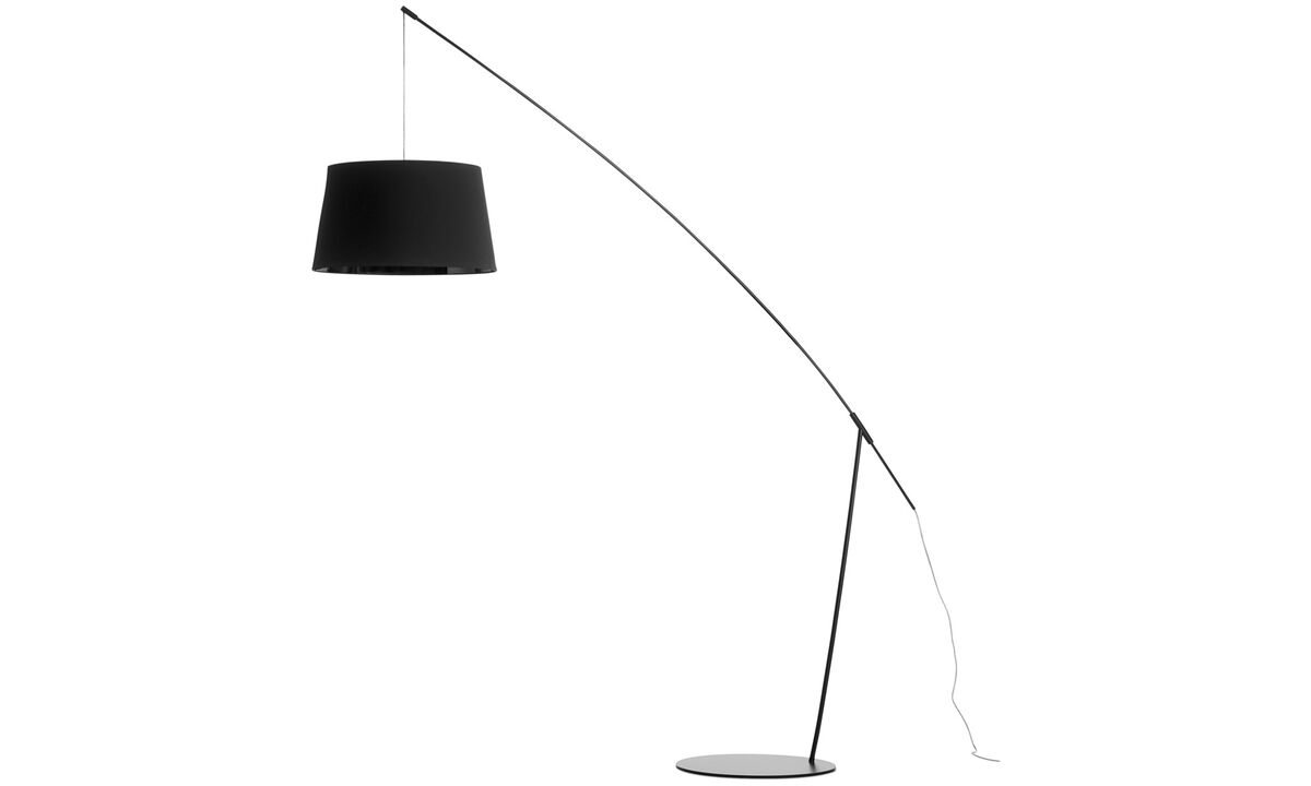 Lamps - Crane floor lamp - Black - Metal