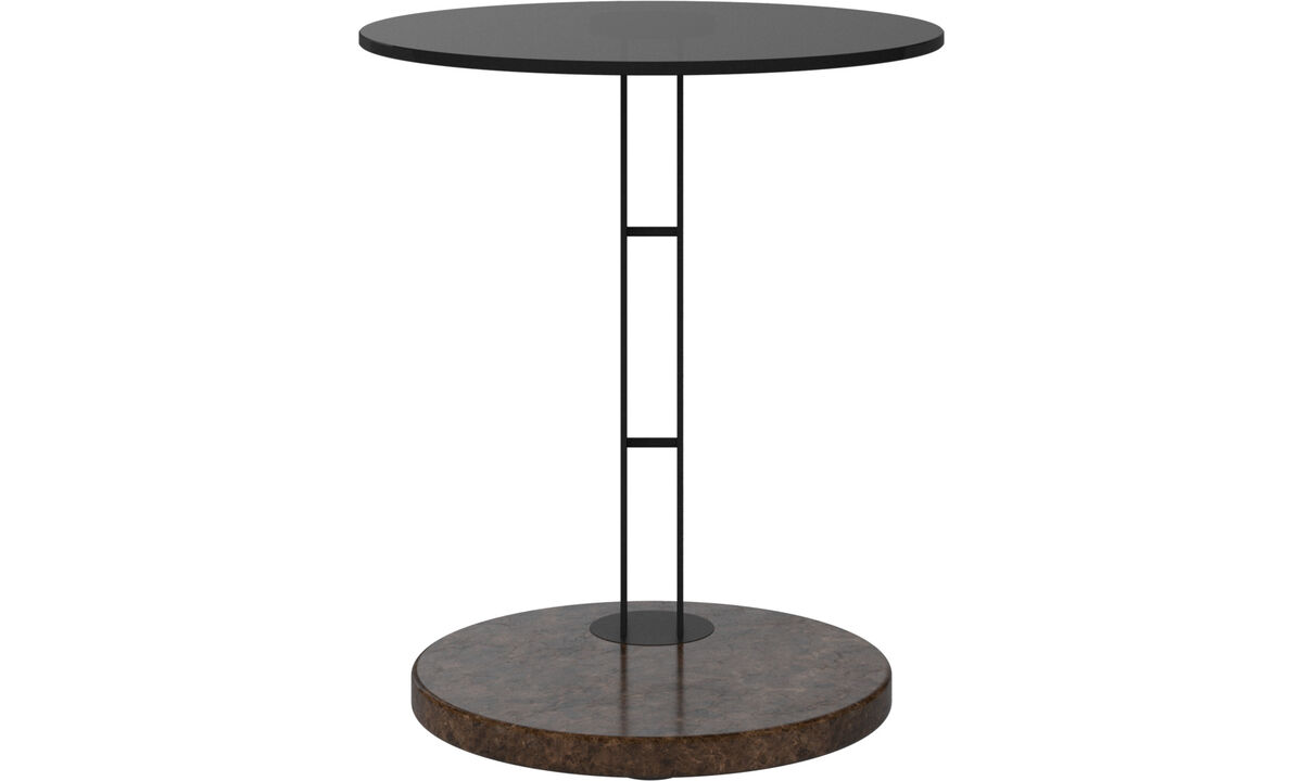 Night stands - Venezia side table - round - Brown - Glass