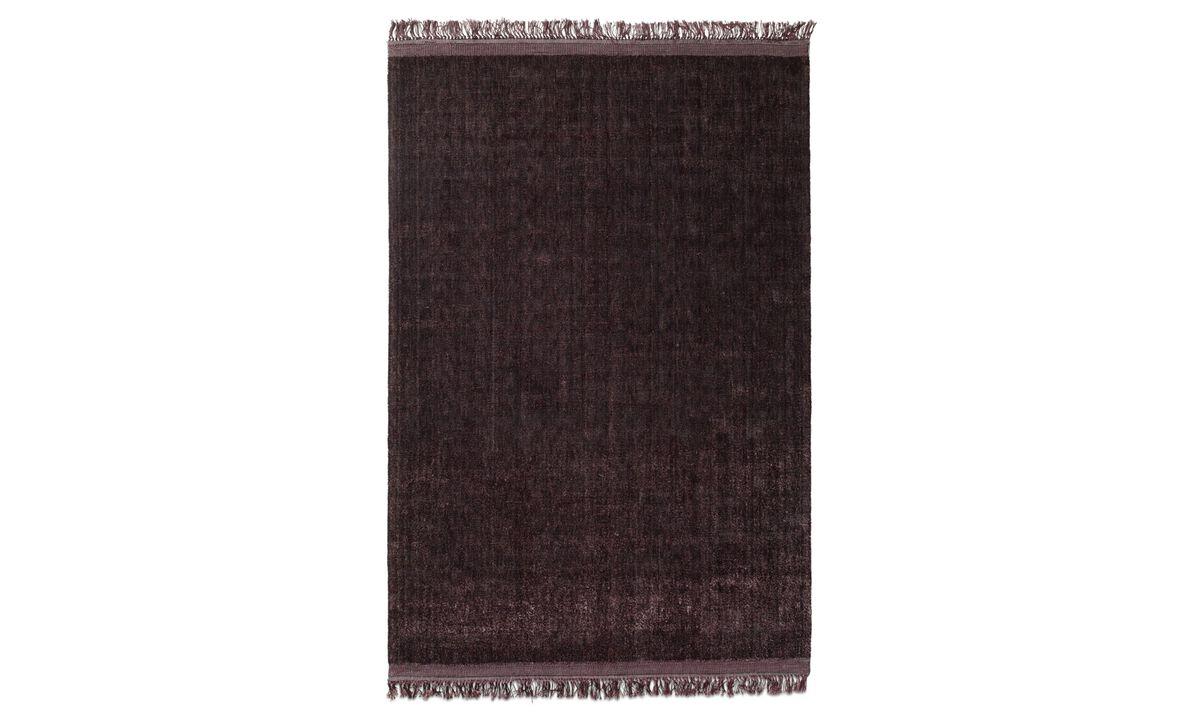 Nouveaux designs - Tapis Hopa - Rouge - Tissu