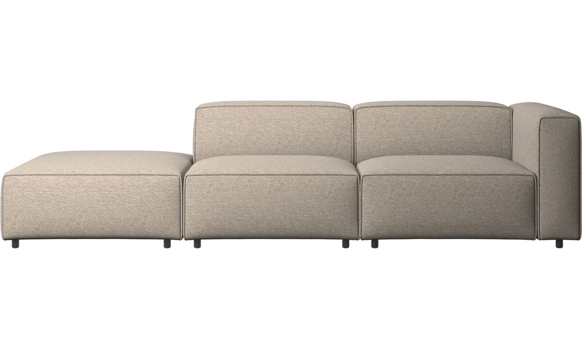 Двухместные диваны - диван Carmo с модулем для отдыха - Бежевого цвета - Tкань