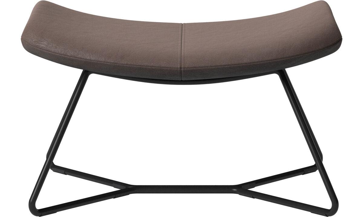 Footstools - Imola footstool - Brown - Leather