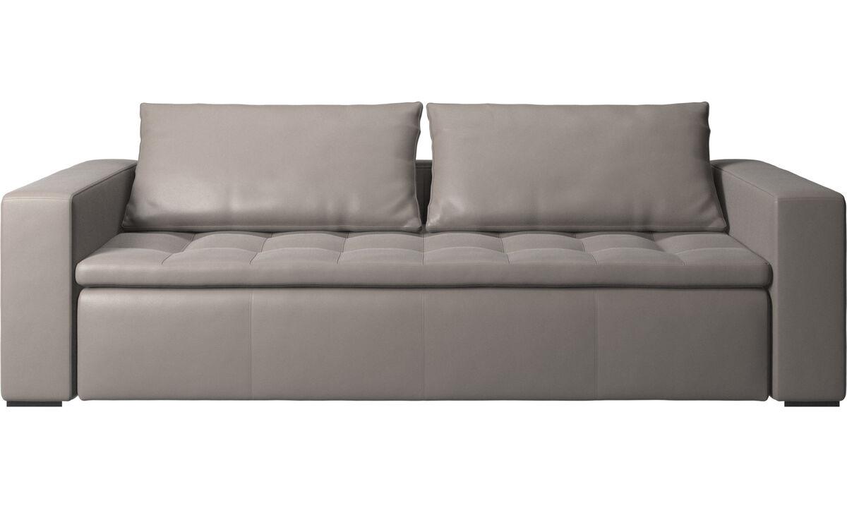 Sofás de 3 plazas - sofá Mezzo - En beige - Piel