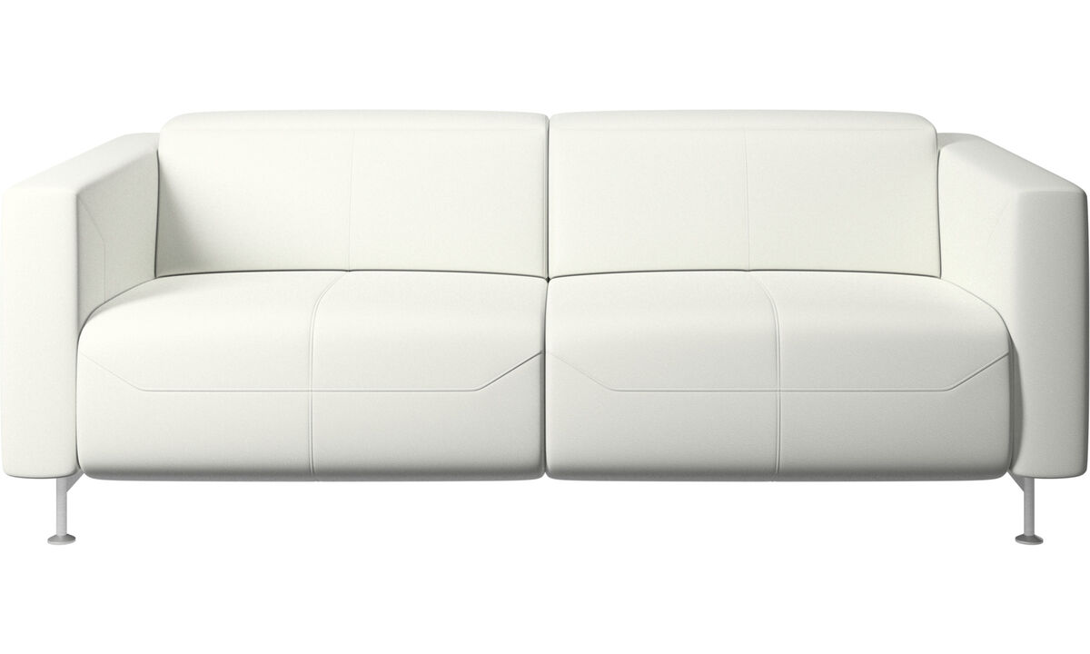 Recliner sofas - Parma reclining sofa - White - Leather