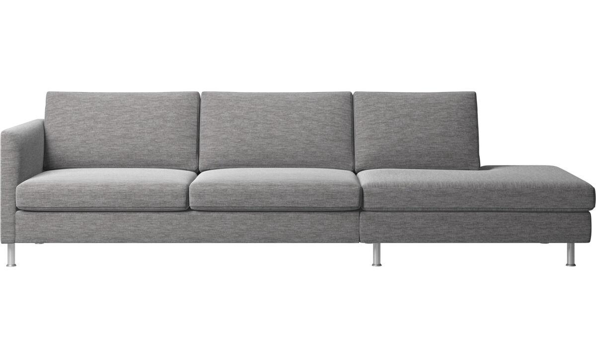 Lounge Sofas - Indivi Sofa mit Loungemodul - Grau - Stoff