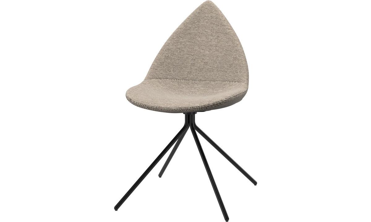 Krzesła do jadalni - Krzesło Ottawa - Beżowy - Tkanina
