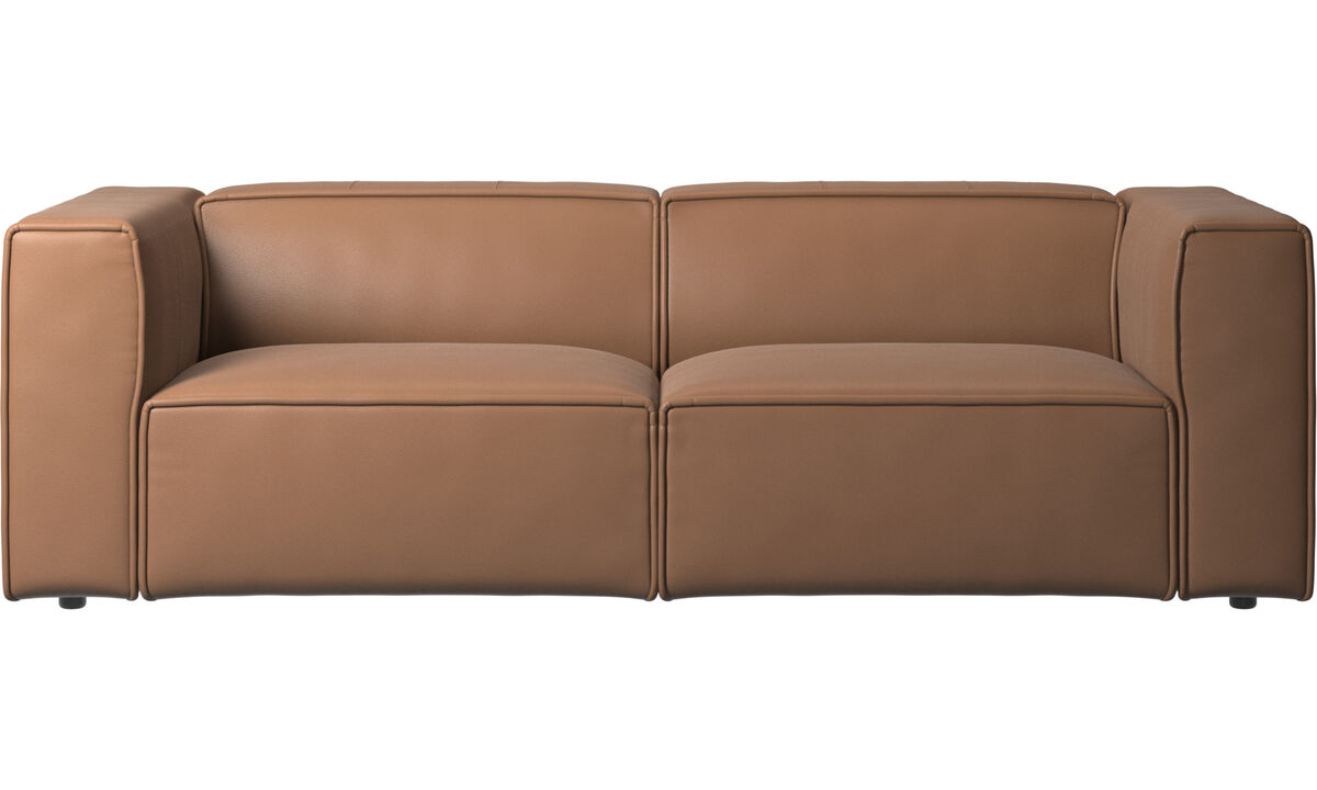 2.5 seater sofas - Carmo sofa - Brown - Leather