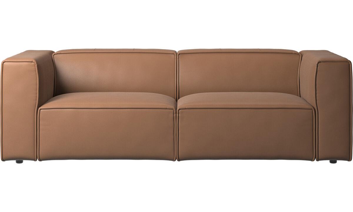 2,5 sedačky - sedačka Carmo - Hnedá - Koža