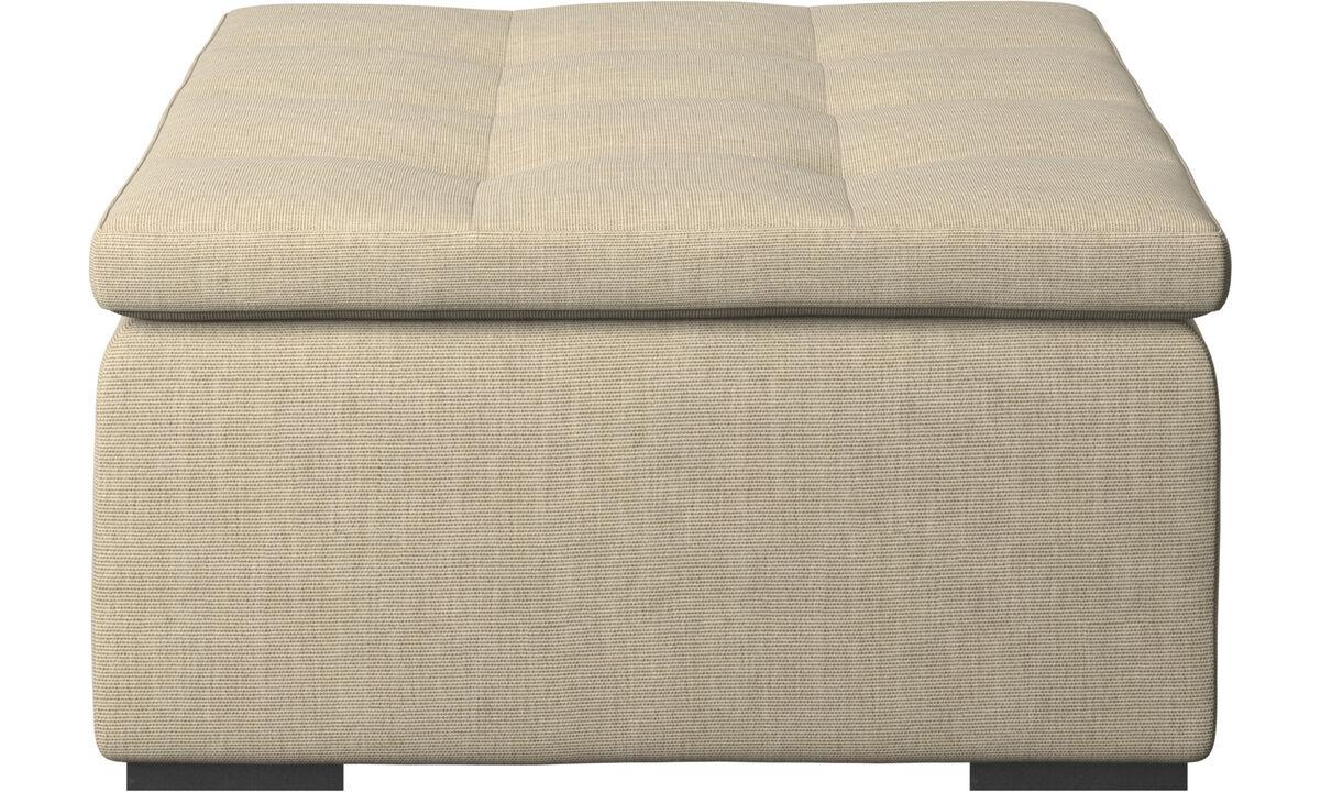 Ottomans - Mezzo ottoman - Brown - Fabric