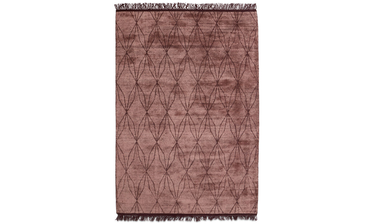 Rectangular rugs - Depiction rug - rectangular - Red - Wool