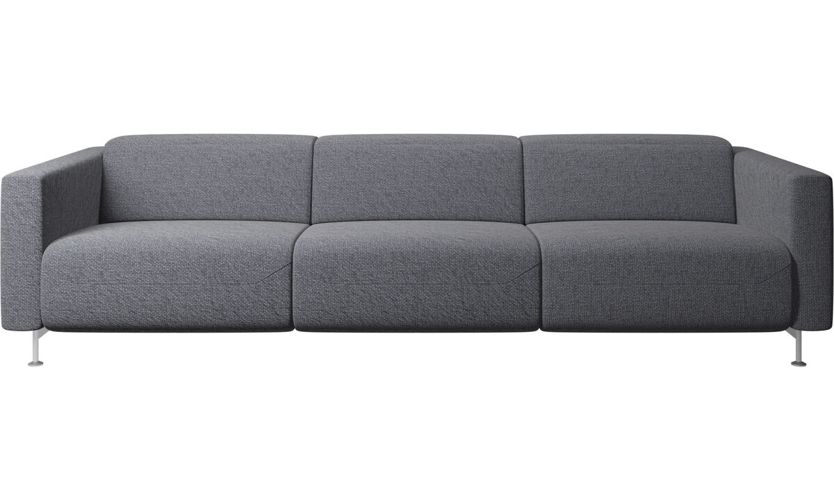 3 seater sofas - Parma reclining sofa - Blue - Fabric