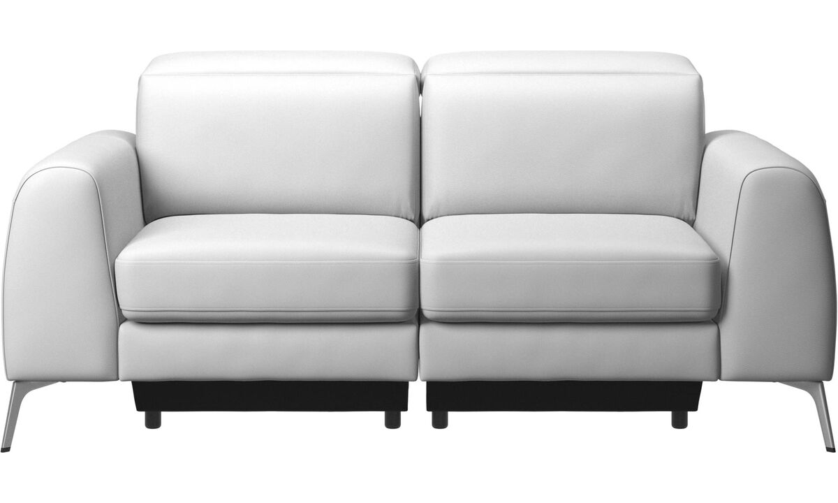 2 seater sofas - Madison sofa with adjustable headrest - White - Leather