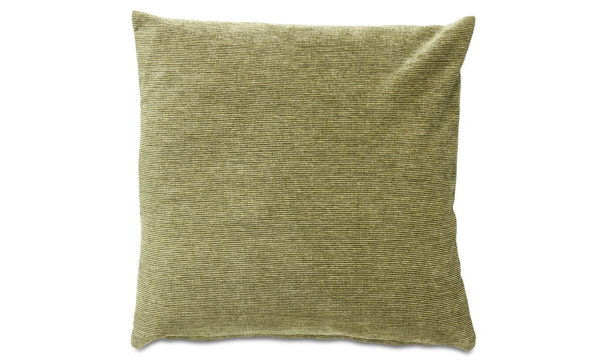 Cojines - cojín Velvet rough - En verde - Tela