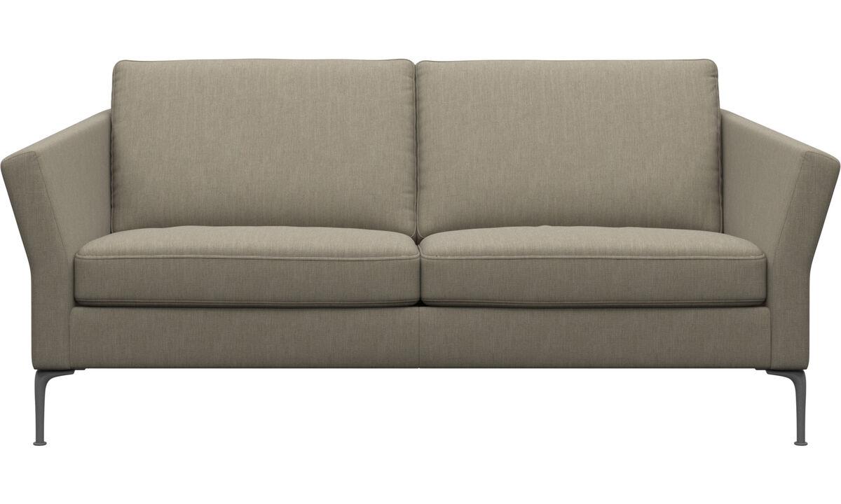 2.5 seater sofas - Divano Marseille - Marrone - Tessuto