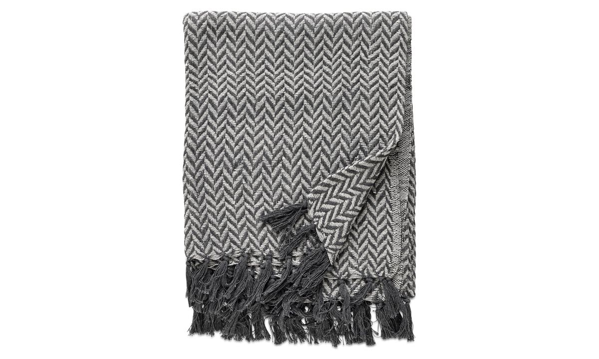 Throws & bedspreads - Opart plaid - Grey - Fabric