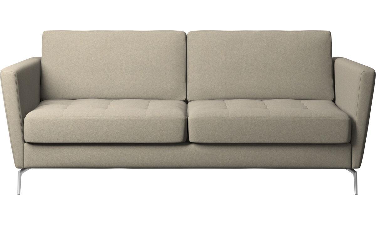 Sofás cama - sofá cama Osaka, asiento capitoné - En beige - Tela