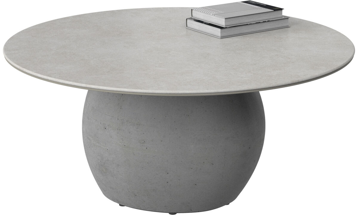 Coffee tables - Bilbao coffee table - round - Gray - Ceramic