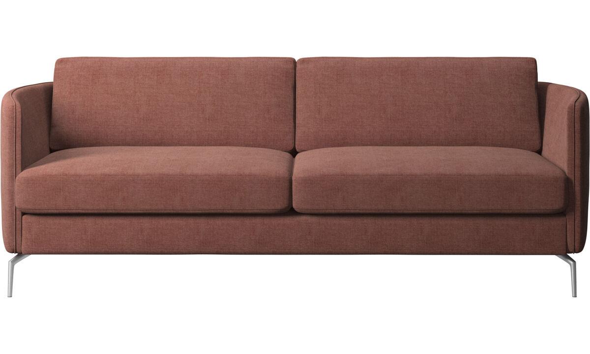 Sofás de 2 lugares e meio - Sofá Osaka, assento regular - Vermelho - Tecido