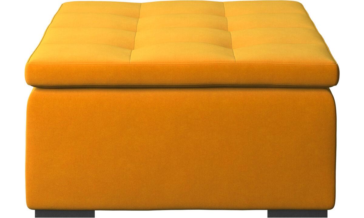 Footstools - Mezzo footstool - Orange - Fabric