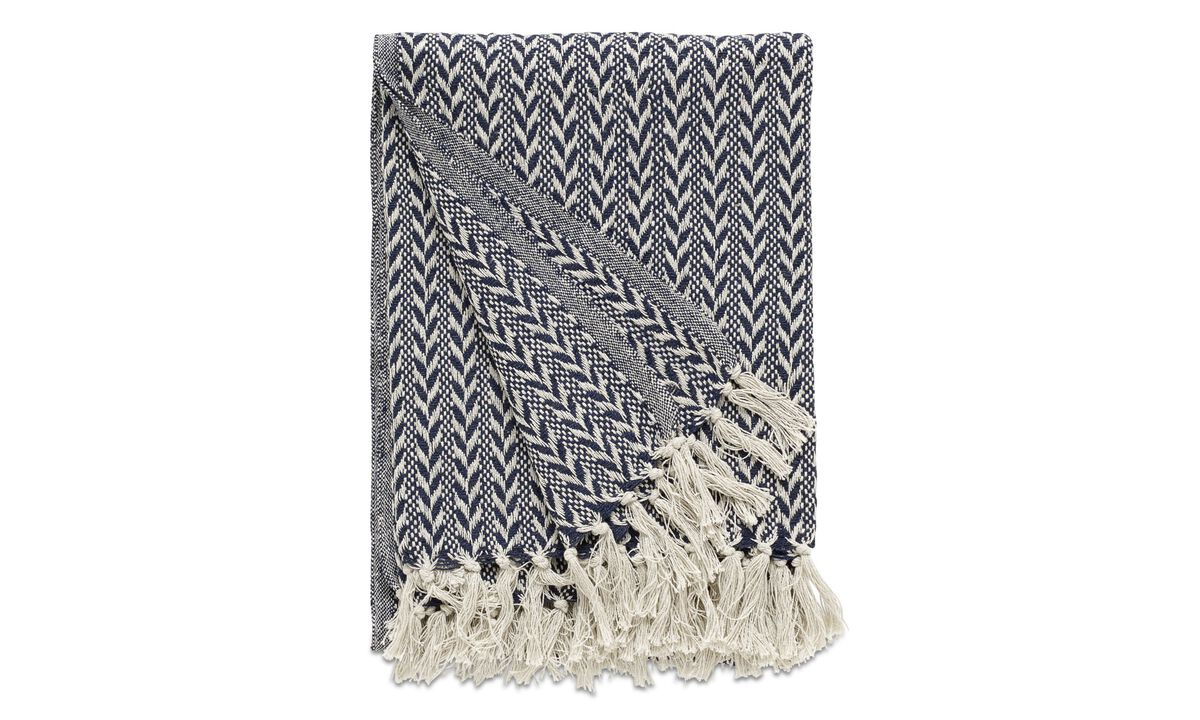 Throws & bedspreads - Opart throw - Blue - Fabric