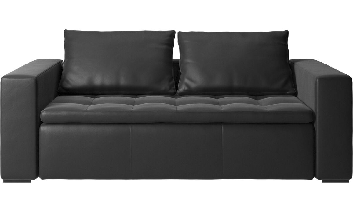 2.5 seater sofas - Mezzo sofa - Black - Leather
