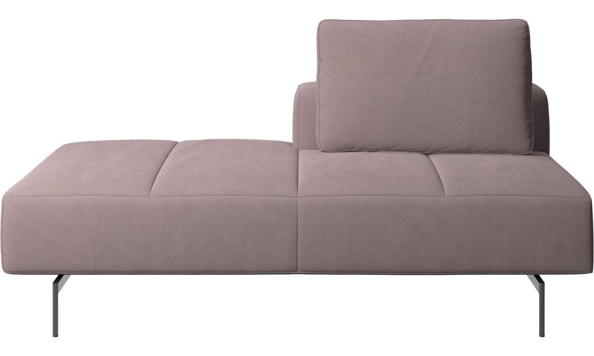 Sofás modulares - Módulo lounge para sofá Amsterdam, respaldar derecho, lado izquierdo abierto - Morado - Tela