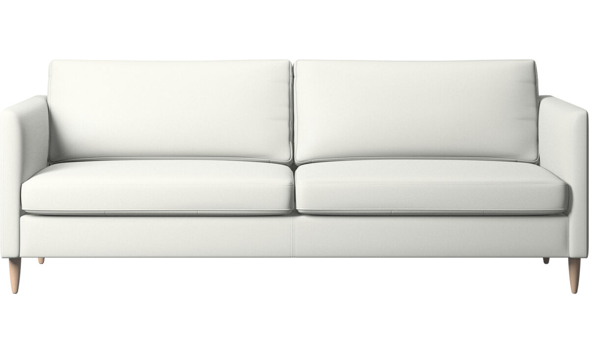 Sofás de 3 lugares - sofá Indivi - White - Couro