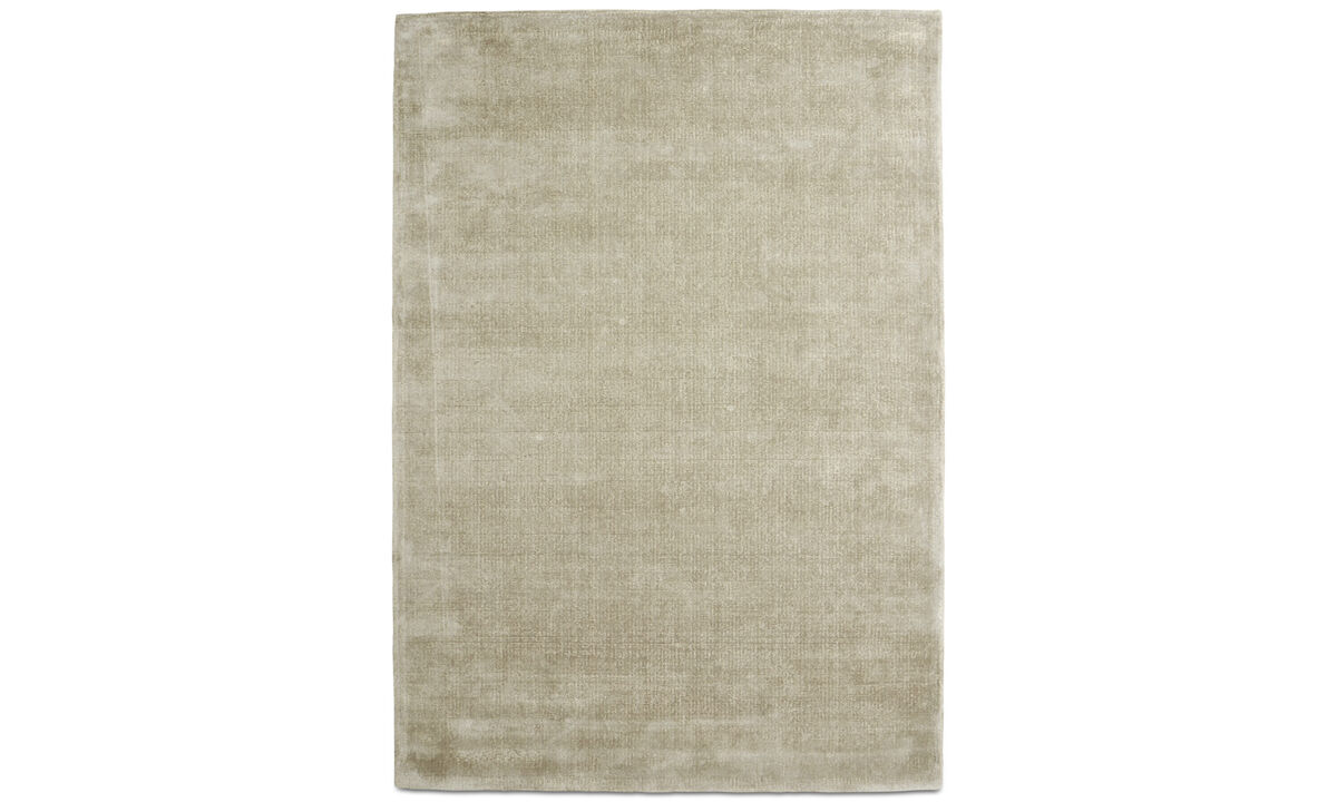 Alfombra rectangulares - Alfombra Simple - rectangular - En gris - Lana