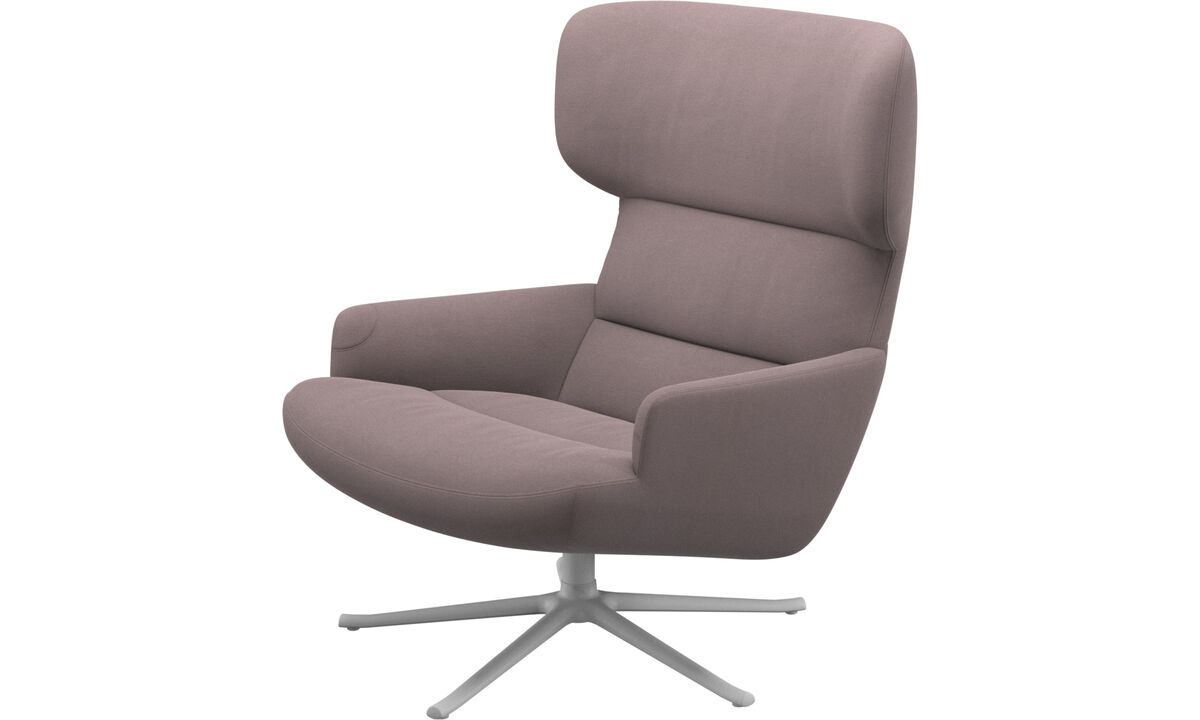 Armchairs - Trento chair with swivel function - Purple - Fabric
